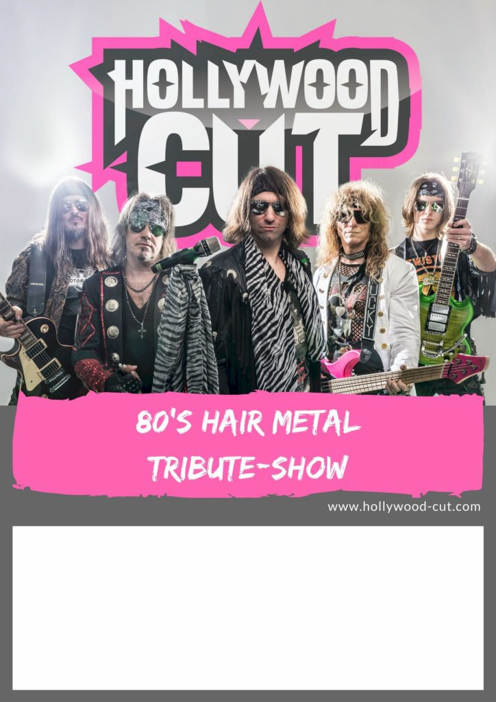 Tourplakat Hollywood-Cut Hairmetal Tribute Show